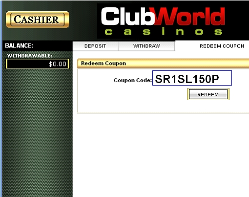 coupon codes for club world casino